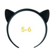ねこみみカチューシャ 5-6インチ(ブラック)