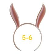 うさみみカチューシャ 5-6インチ(ライトピンク)
