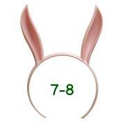 うさみみカチューシャ 7-8インチ(ライトピンク)