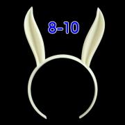 うさみみカチューシャ 8-10インチ(ライトクリーム)