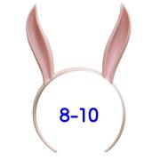 うさみみカチューシャ 8-10インチ(ライトピンク)