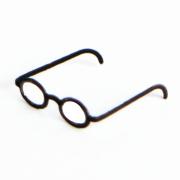 1/12 ミニチュアメガネ(ブラック) [ドールハウス用眼鏡]