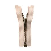 オープンファスナー 7cm/金具色アンティークゴールド/テープ色ペールピンク
