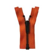 ■限定在庫販売■オープンファスナー 6cm/金具色ブラック/テープ色ダークオレンジ