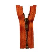 オープンファスナー 7cm/金具色ゴールドブラス/テープ色ダークオレンジ