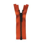 ■限定在庫販売■オープンファスナー 8cm/金具色ブラック/テープ色ダークオレンジ