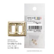5×4角バックル(ゴールド)