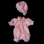 ピンタックベビー服セット(ピンク)