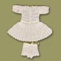 ヴィクトリア(光沢アイボリー)/レース編みドレス
