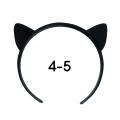 ねこみみカチューシャ 4-5インチ(ブラック)