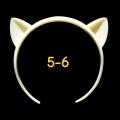 ねこみみカチューシャ 5-6インチ(ライトクリーム)