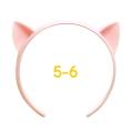ねこみみカチューシャ 5-6インチ(ライトピンク)