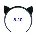 ねこみみカチューシャ 8-10インチ(ブラック)