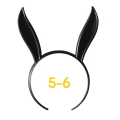 うさみみカチューシャ 5-6インチ(ブラック)
