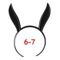 うさみみカチューシャ 6-7インチ(ブラック)