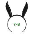 うさみみカチューシャ 7-8インチ(ブラック)
