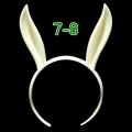 うさみみカチューシャ 7-8インチ(ライトクリーム)