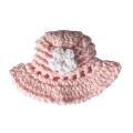 レース編み帽子A(ピンク)