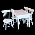 テーブル&イス 5点set A(ホワイト) [1/12ドールハウス用家具]