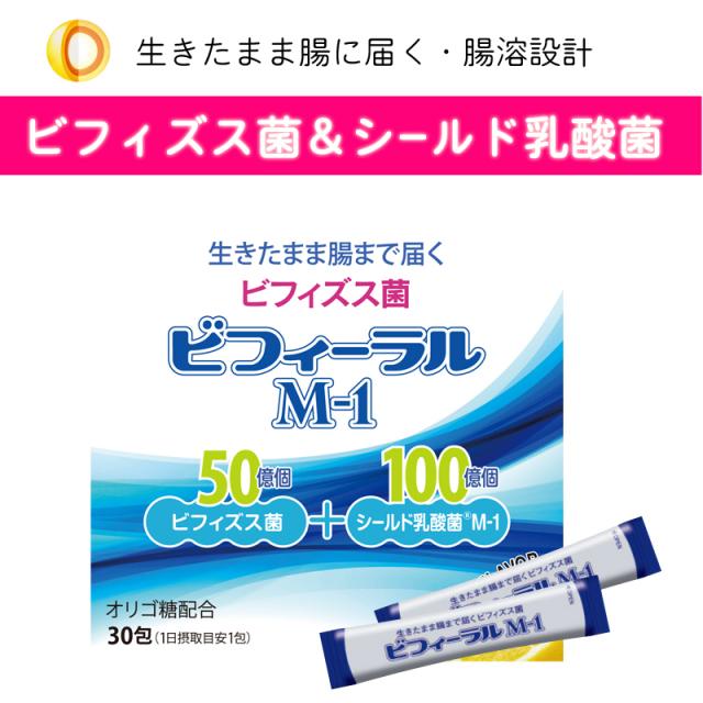 【新発売】生きて腸に届くビフィズス菌&シールド乳酸菌 ビフィーラルM1 30包