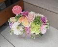 母の日アレンジ 送料込み4400円~淡く優しい色合いで お花はおまかせください~