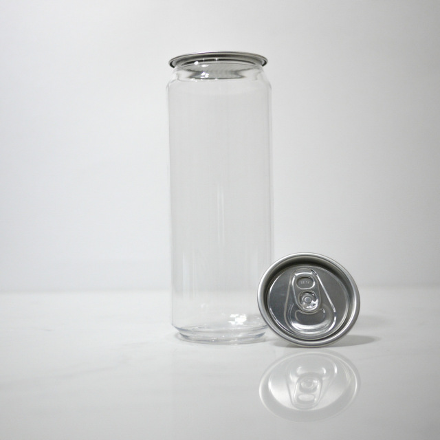 TOP-CAN専用透明ボトル容器 500ml 100個蓋付(プルタブtype)