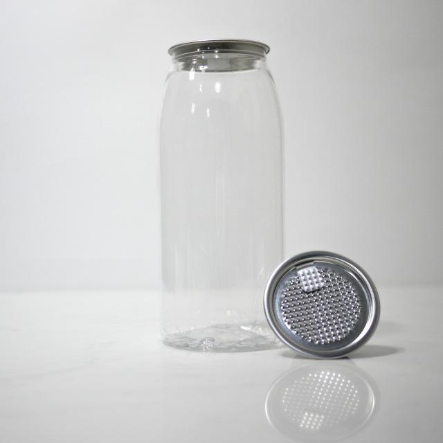 TOP-CAN専用透明ボトル容器 650ml  100個蓋付(シールtype)