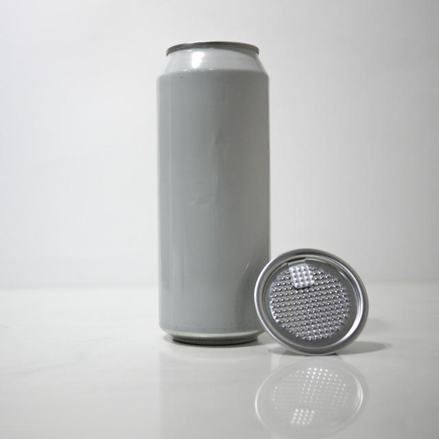 TOP-CAN専用アルミ容器 500ml ホワイト  100個蓋付(フィルムtype)