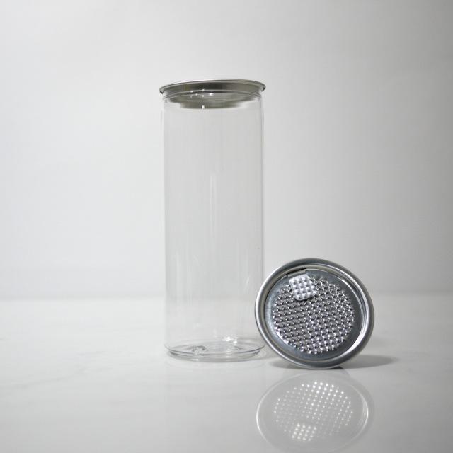 TOP-CAN専用透明ボトル容器 330(S)ml 100個蓋付(フィルムtype)