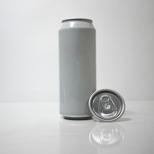 TOP-CAN専用アルミ容器 500ml ホワイト  100個蓋付(プルタブtype)