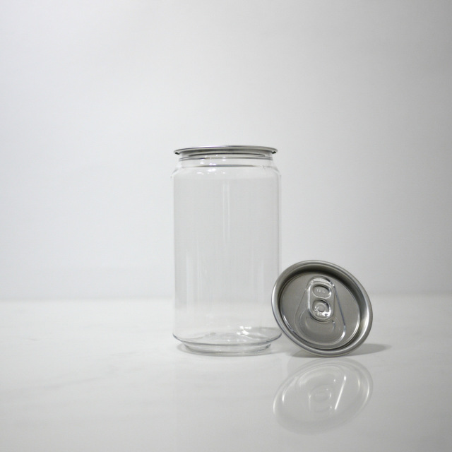 TOP-CAN専用透明ボトル容器 330ml 200個蓋付(プルタブtype)