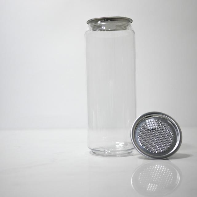 TOP-CAN専用透明ボトル容器 500ml 100個蓋付(フィルムtype)