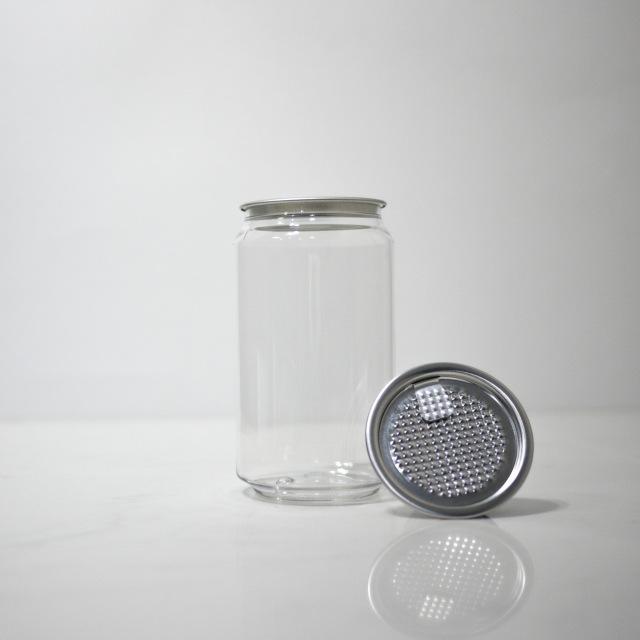 TOP-CAN専用透明ボトル容器 330ml 200個蓋付(フィルムtype)