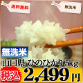 山口県 無洗米 1等米 ひのひかり 5kg 平成25年度産 ※新、消費税率8%を含む価格です。