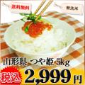 山形県 1等米 つや姫 無洗米 5kg×1袋 平成25年産 ※新、消費税率8%を含む価格です。
