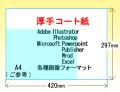 厚手コート紙カラーデータプリント【 A3サイズ;420x297mm】