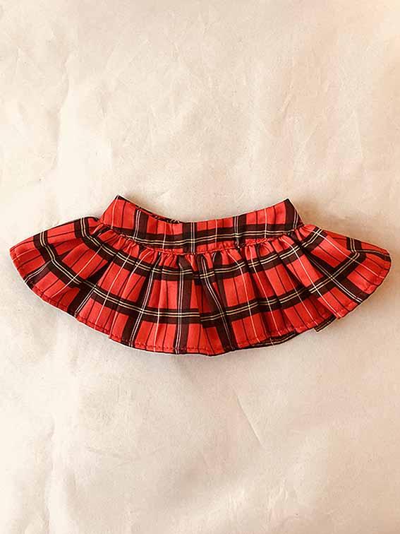 DD/Angelphilia(vmf50)用 赤いチェックギャザースカート