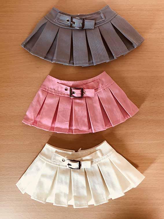 vmf50cm用 バックル付きプリーツスカート