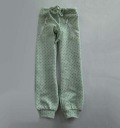 MSD用 薄い緑ドットニット生地パンツ NO.0911B