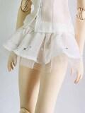 オビツ50用 ギャザーミニスカート 白
