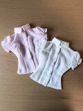 DDのL,M胸用 シフォン半袖Yシャツ