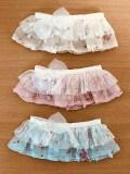 オビツ50用 ミニ花柄フリルスカート