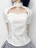 Angelphilia(vmf50)用 胸開け半袖Tシャツ 生成り