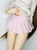DD/Angelphilia(vmf50)用Angelphilia(vmf50) 用 ミニプリッツスカート 薄ピンク