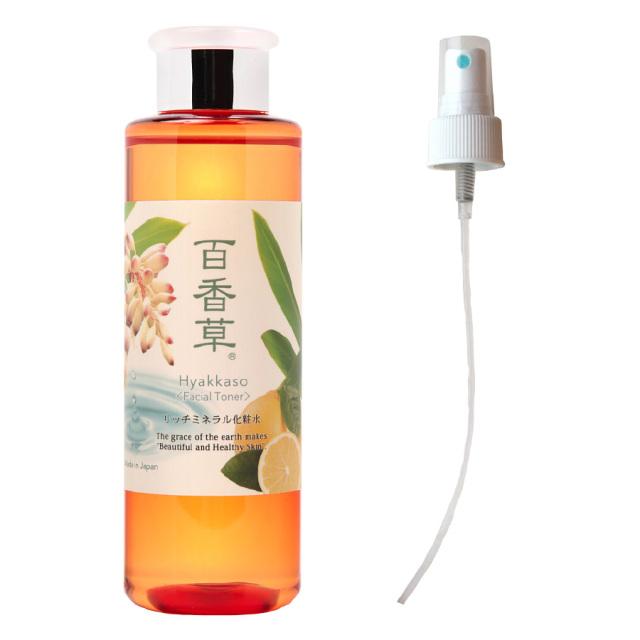百香草リッチミネラル化粧水200ml+スプレーノズル 天然温泉水100%保湿 ゲットウハエキス 天然ヒアルロン酸 天然成分