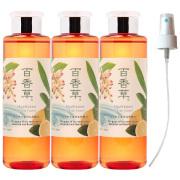 ★お得★百香草 リッチミネラル化粧水200ml×3本 + スプレーノズルセット