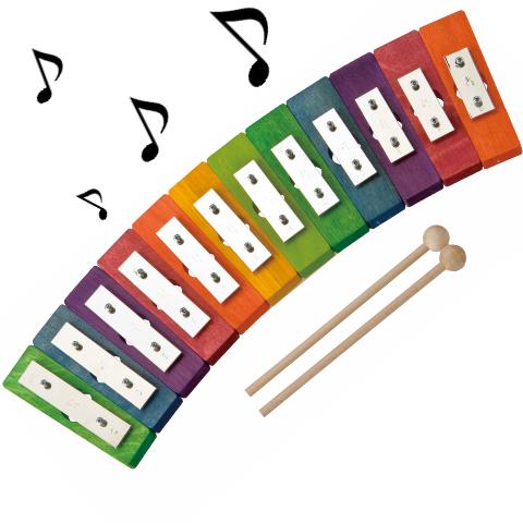 レインボーグロッケンダイヤ12音 カラフル鉄琴