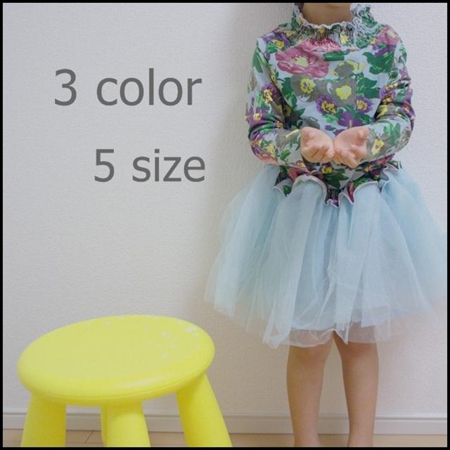 韓国子供服 花柄ワンピース
