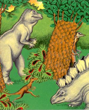 クリエイトアブック 恐竜の国での冒険表表紙