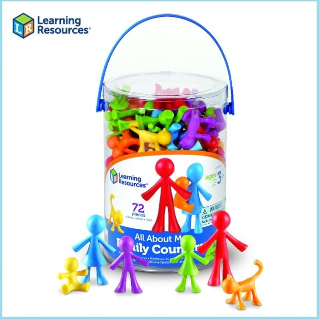 LearningResources ラーニングリソーシズ カラフルファミリー LR3372 おもちゃ かわいい 積木 ブロック フィギュア 知育